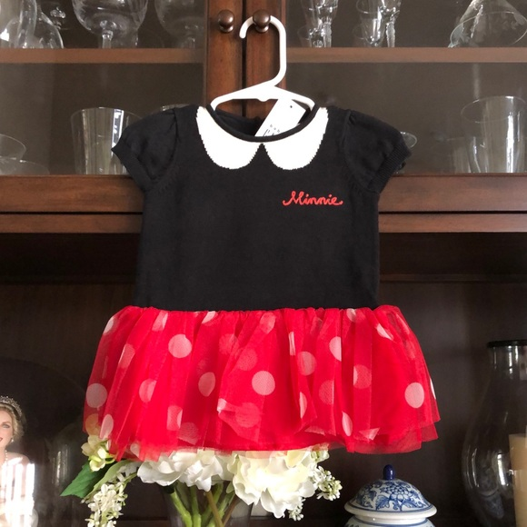 Baby Gap Minnie Mouse Dress Disney 3-6M Tulle NWT!